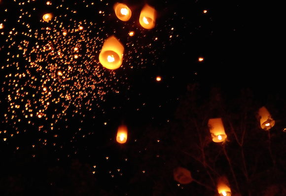 Sky Lanterns in Chiang Mai